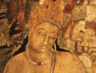 Bodhisattva Padmapani in the Ajanta caves in Maharashtra's Aurangabad district. (WikiCommons)