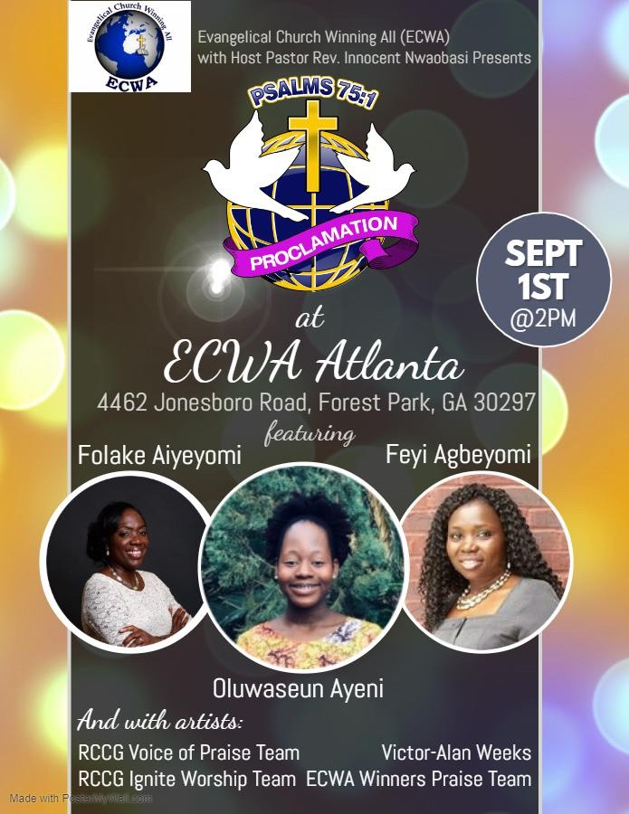 ECWA Atlanta Proclaimation 2019.