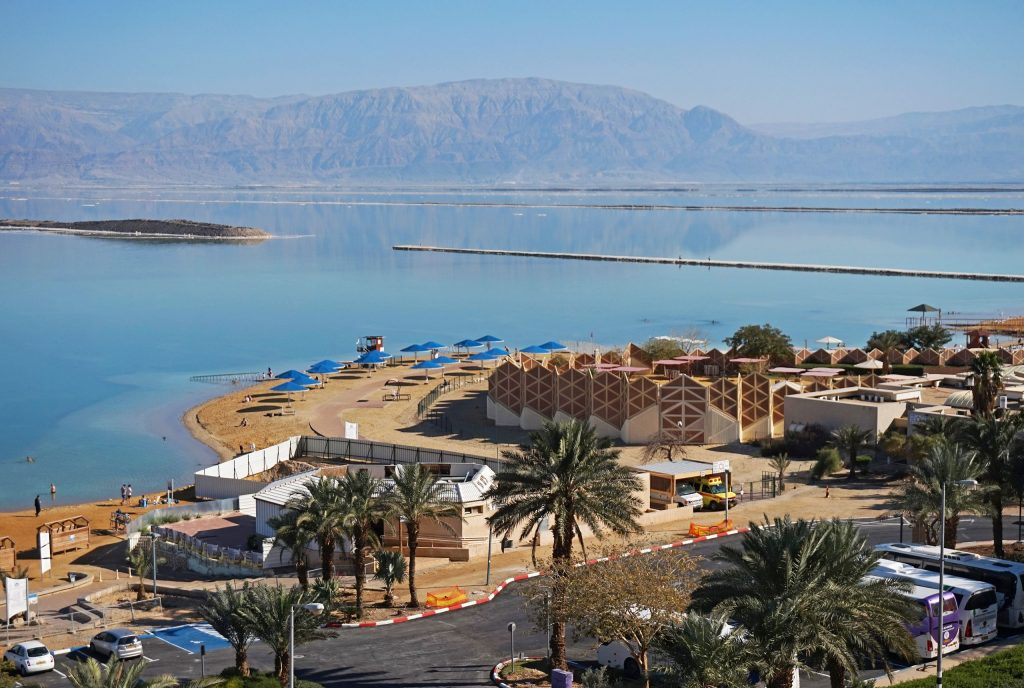 Ein Bokek resort on the shore of the Dead Sea.