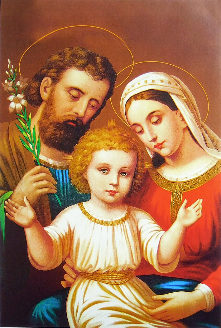 Joseph, Mother Mary and Baby Jesus.