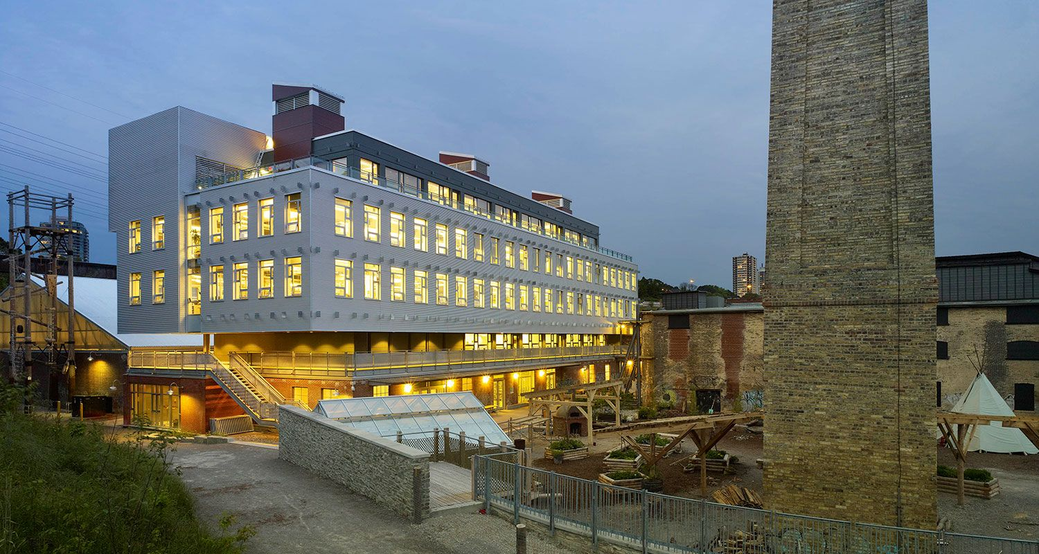 Evergreen Brick Works at Dusk (Image by Tom Arban)