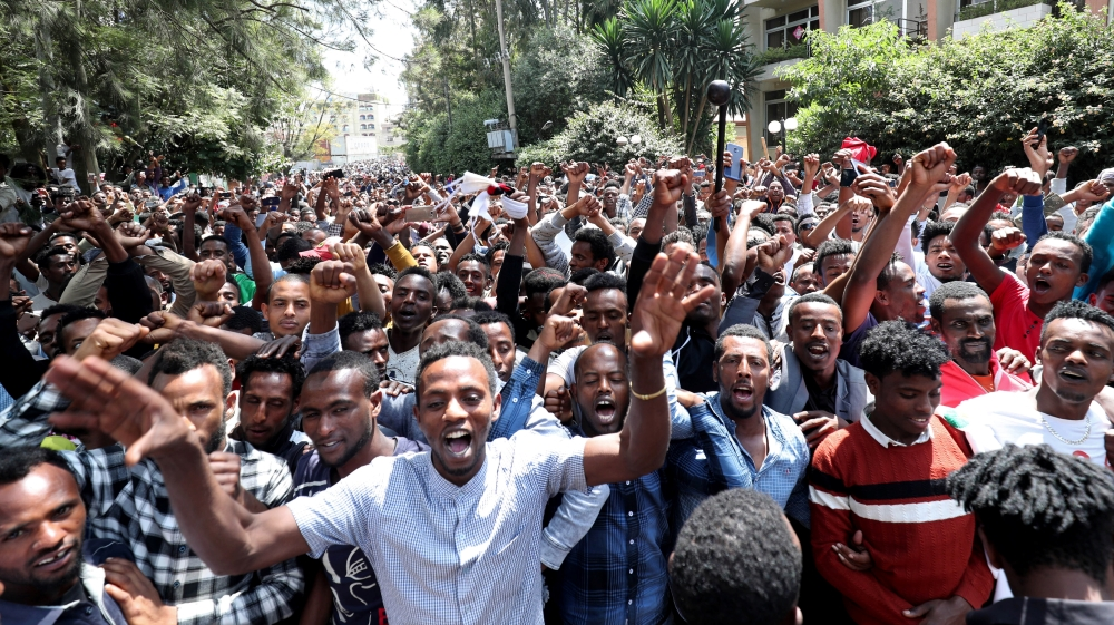Many young Oromo men consider Jawar a hero who brought the political change they fought for[Tiksa Negeri [Reuters]