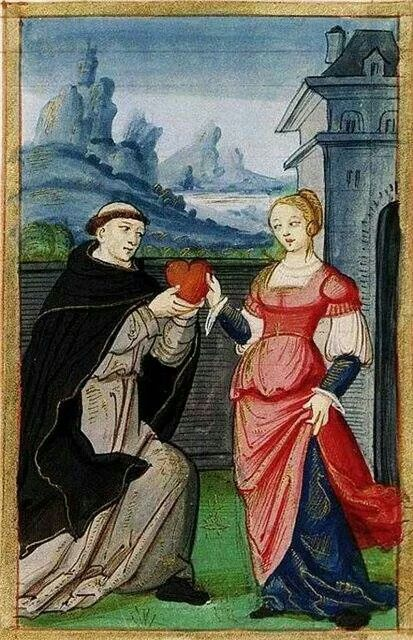 Medieval illustrations of Love