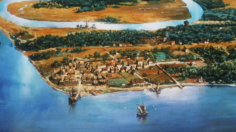 English colony in 1607 at Jamestown