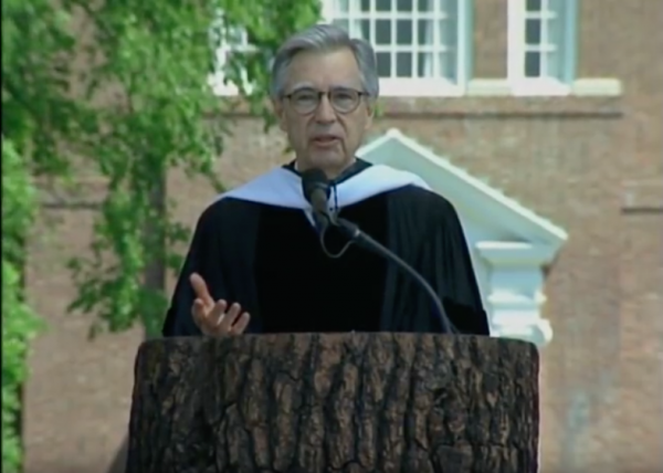 In 2002 at Dartmouth College, Fred gave his last commencement speech.