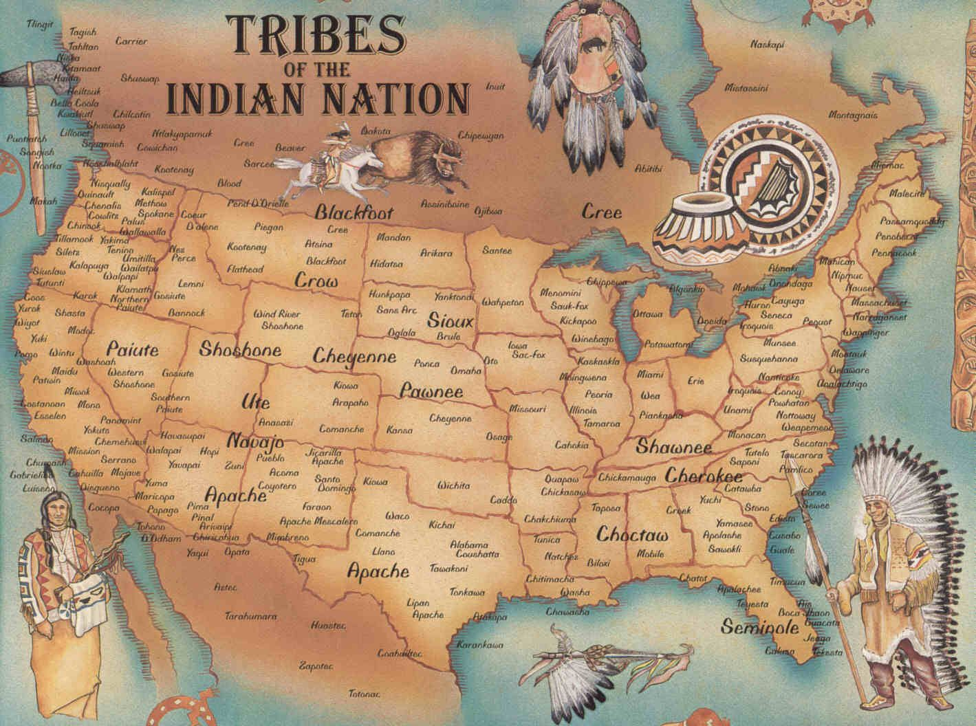 Native Tribes in North America Before and After Colonization