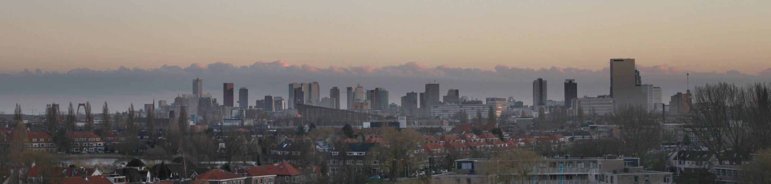 Skyline Rotterdam from Schiebroek