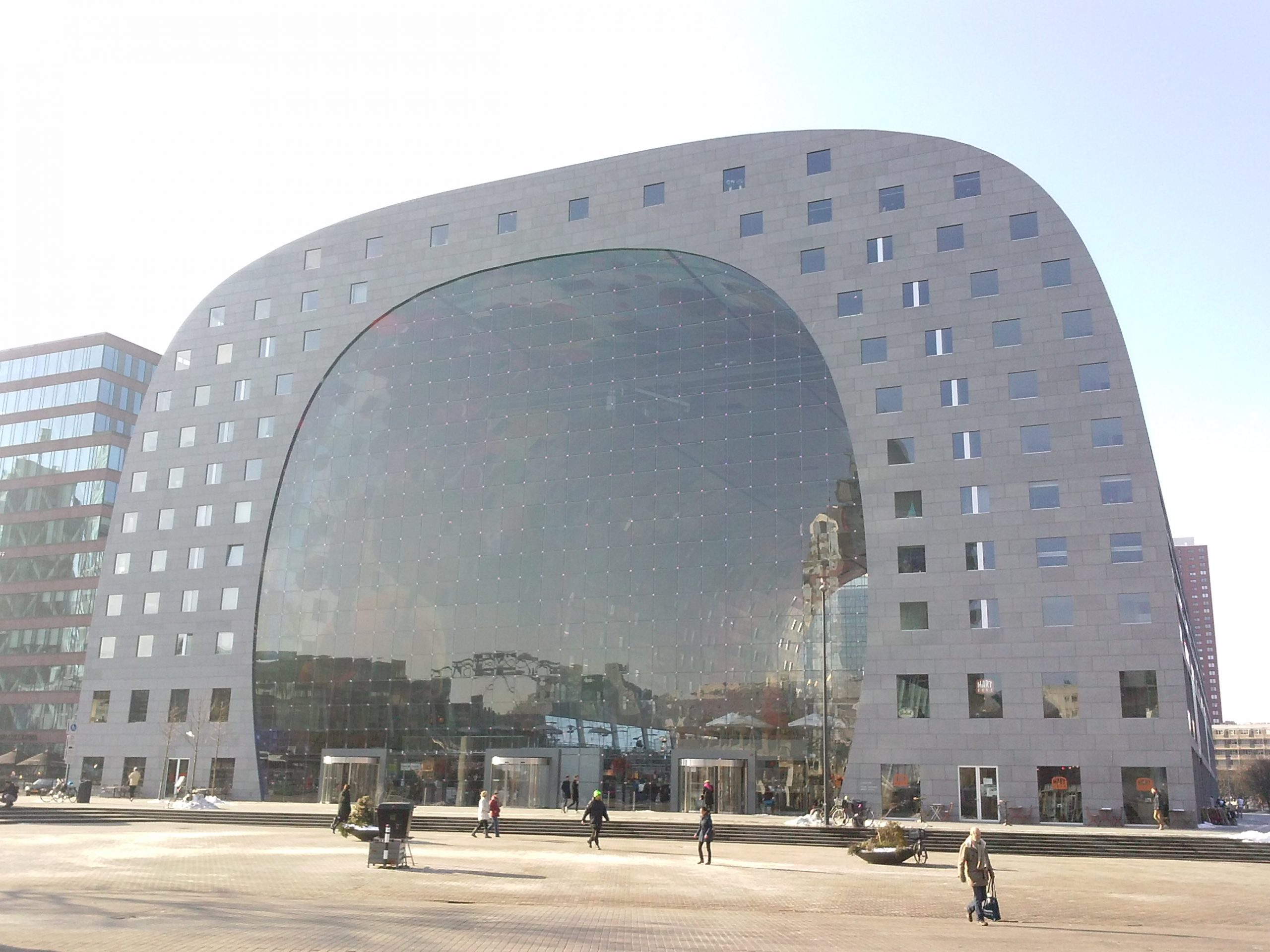 The Markthal as seen from the Binnenrotte, Rotterdam center