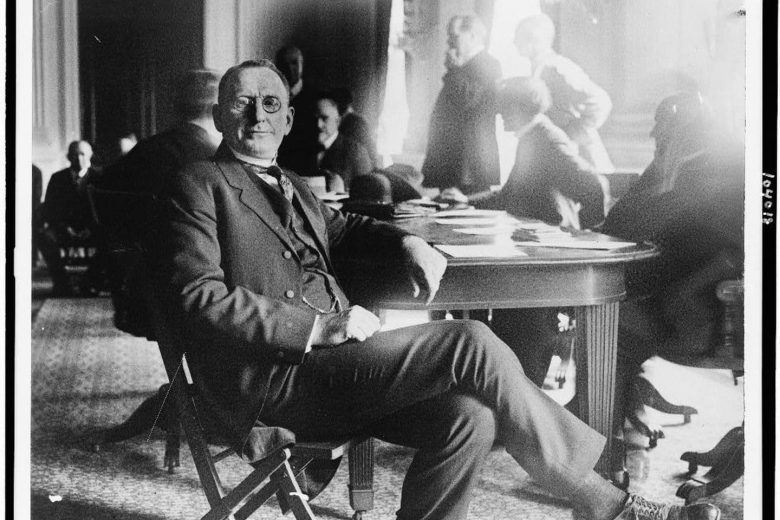 William Joseph Simmons attends a congressional committee investigation of the Ku Klux Klan in 1921. (Library of Congress)