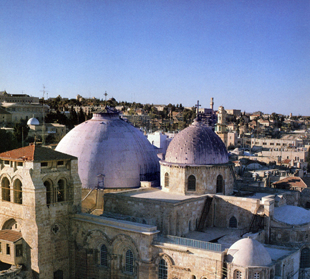 The Church of the Holy Sepulchre, present-day Jerusalem.