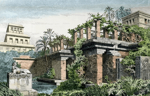 The Hanging Gardens of Babylon.