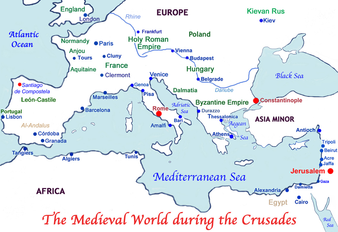 The Medieval World during the crusades
