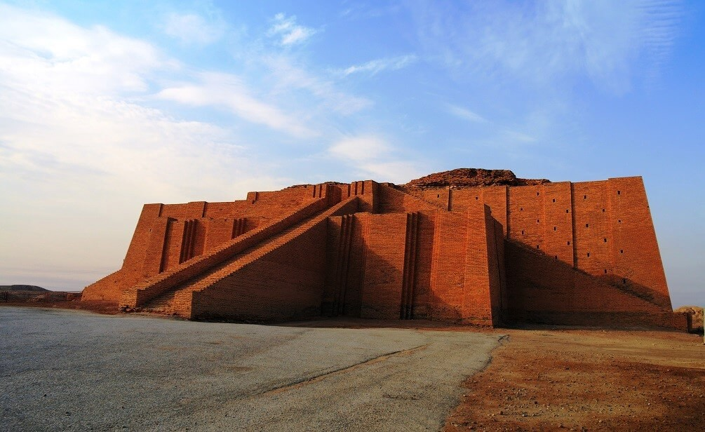 The Sumerian Ziggurat of Ur of one of the first great cities of ancient Mesopotamia.