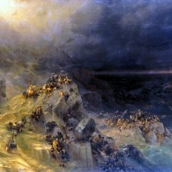 """Aivazovsky painting """"the deluge"""" (oil on canvas) is a striking work by the great painter of seascapes. Work on the painting began in 1864-m. As you know, many masterpieces of world art history written on the stories of the Bible, and the story of the flood is not just used by different artists. And Aivazovsky himself several times throughout his life he returned to this famous story. (State Russian Museum, Saint Petersburg)"""