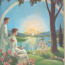 The last book of the Bible says that at the end of time, the New Jerusalem (also called the Holy City) will come down from heaven and be the place where Christ and His people live (Pinterest)