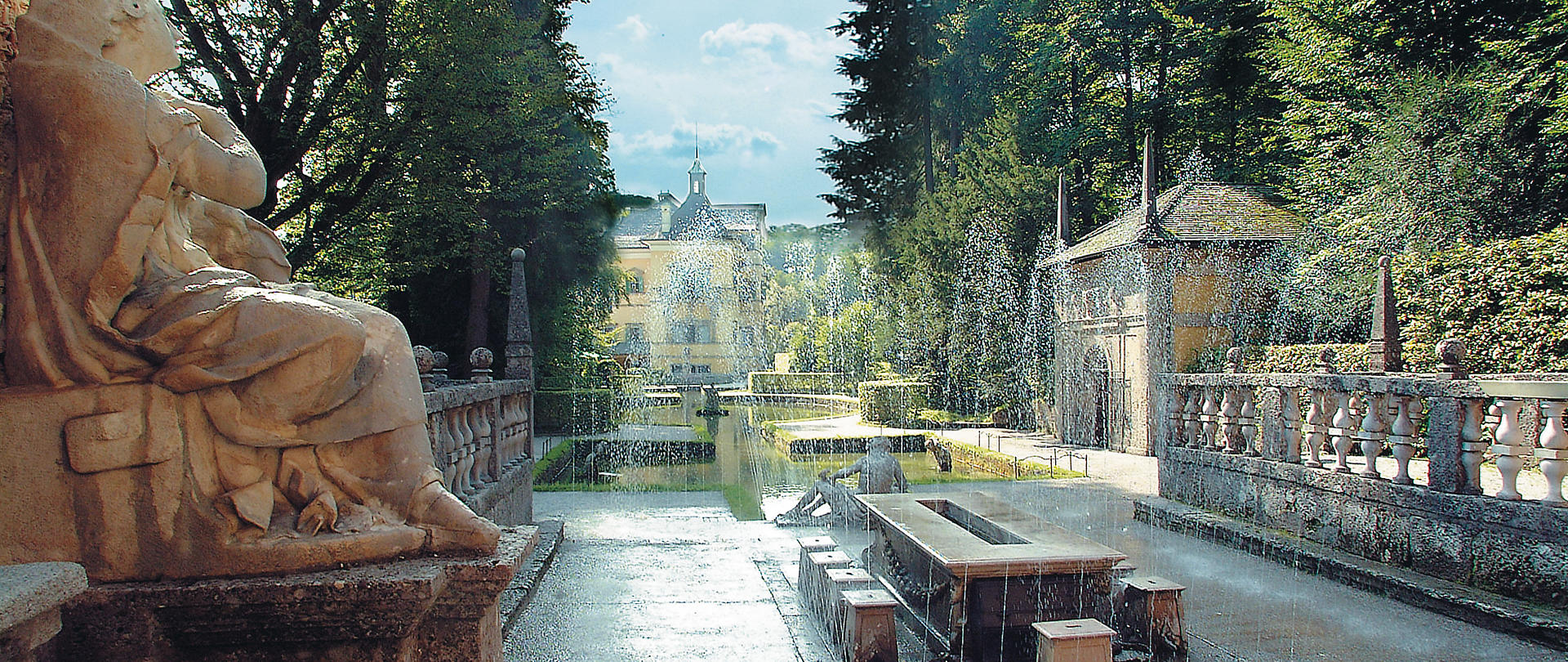 Hellbrunn Castle and Trick Fountains