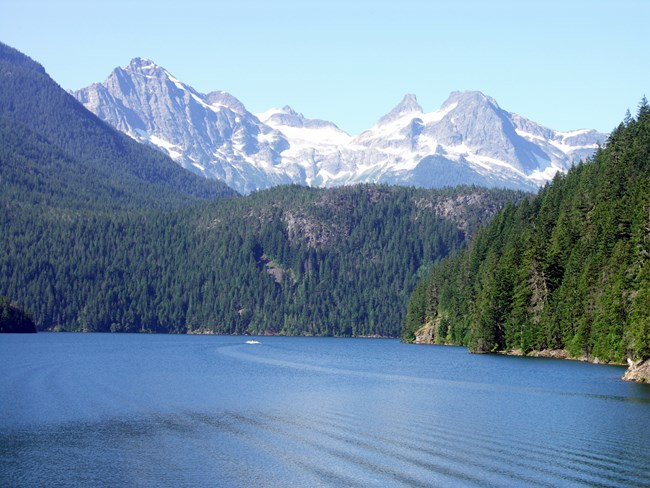 Ross Lake offers outstanding paddling and boating opportunities, within a mountainous wilderness setting. ( Images, R.Seifried)