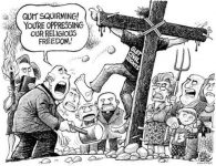 Secularist: 1846, one who theoretically rejects and ignores all forms of religion based on revelation (Pinterest)