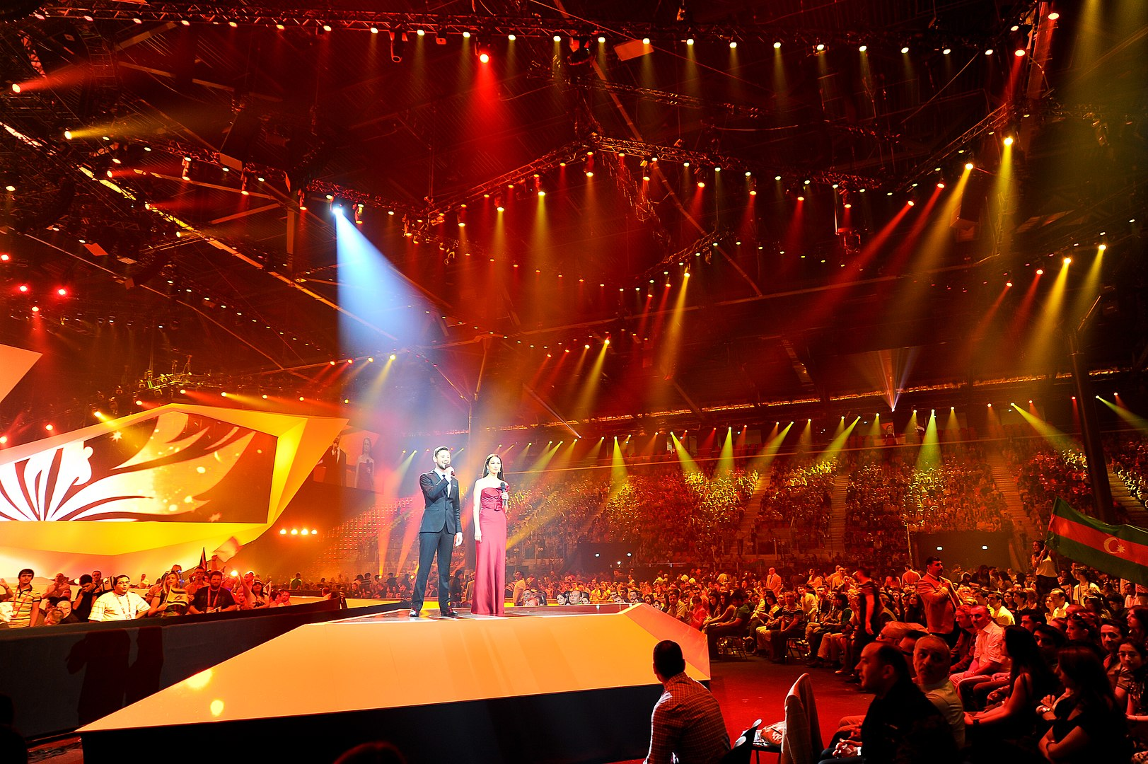 Baku Crystal Hall during the Eurovision Song Contest 2012 (Image by Vugarİbadov)