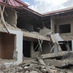 Nigerian high commission apartment in Ghana demolished by armed men