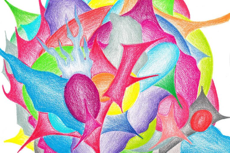 Flower Drawing (Abstract Art by Jera Sky)