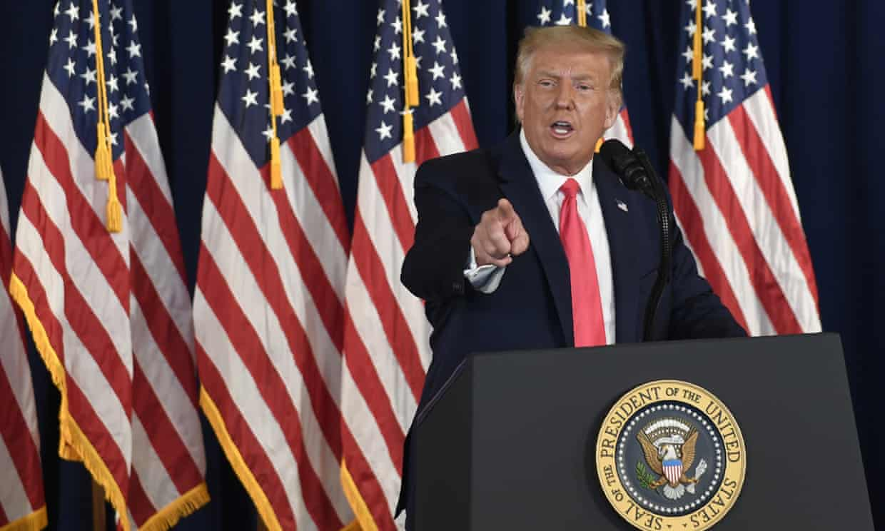 Donald Trump said on Saturday that he would extend enhanced coronavirus unemployment benefits. (Image by Susan Walsh-AP)