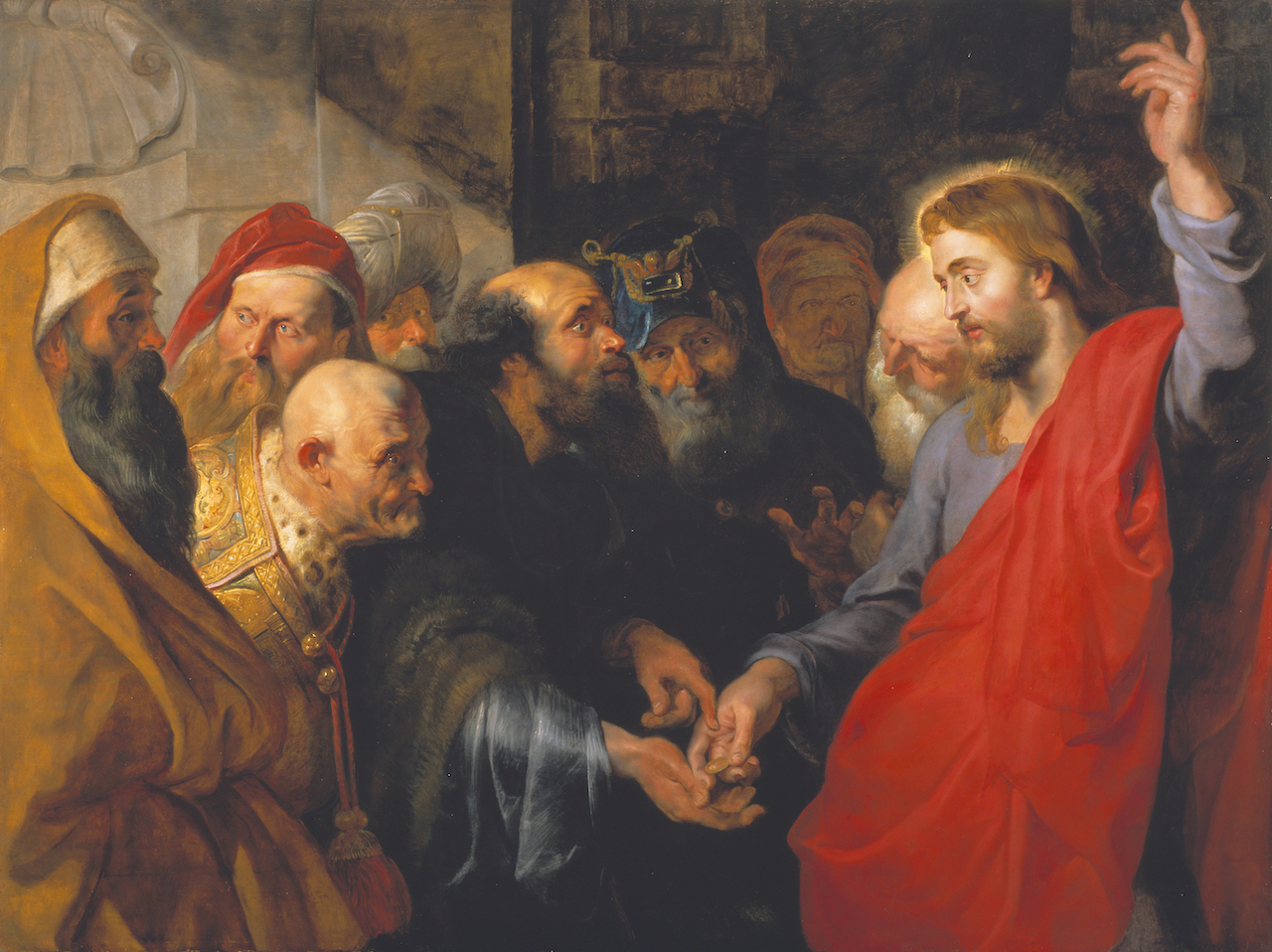 Peter Paul Rubens, The Tribute Money of 1612. (Image courtesy of the Fine Arts Museums of San Francisco)