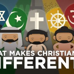 How is the Christian religion different from all the other world religions? (Image by Share Change/YouTube)