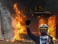 Protesters and Police Clash in Indonesia's Capital